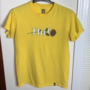 Mens Huf Rose Yellow T-shirt